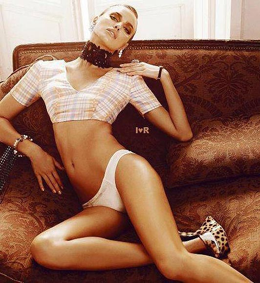Lingerie-clad Irina Shayk