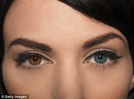 All change: A controversial new technique using a laser can transform brown eyes to blue in just a few weeks (posed by model)
