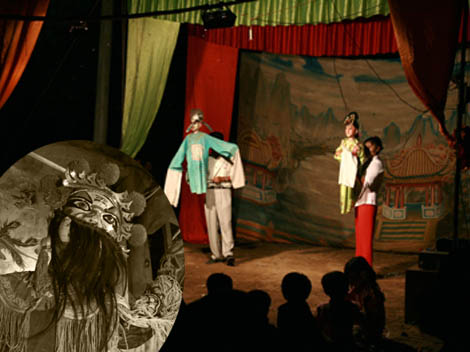 Lin'gao man-and-puppet show in Hainan province
