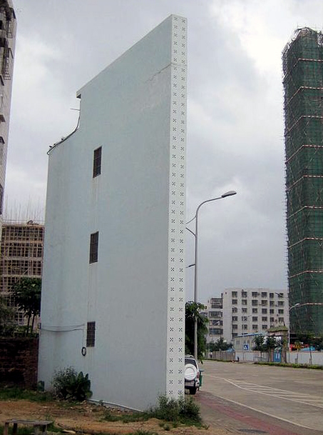 3-storey super-thin building appears in Haikou