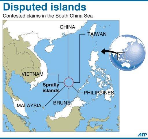 china disputed islands