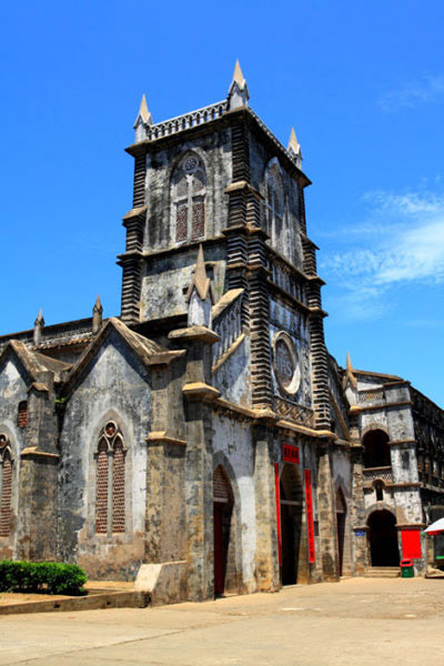 A Gothic Church in one of the villages on Weizhou Island.[Photo/CRIENGLISH.com]