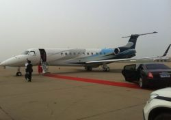 The Embraer Legacy 650 on display at Hainan Rendez-vous 2012. — AFP/Relaxnews pic