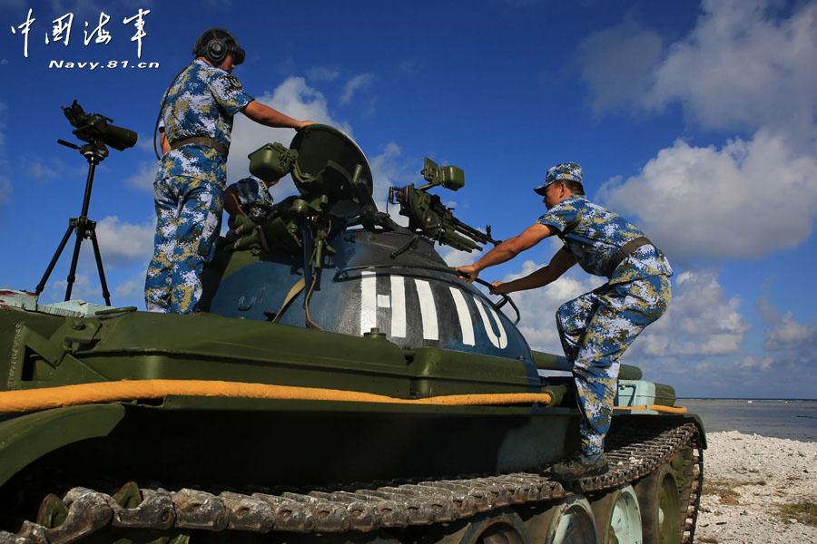 PLA live-ammunition training