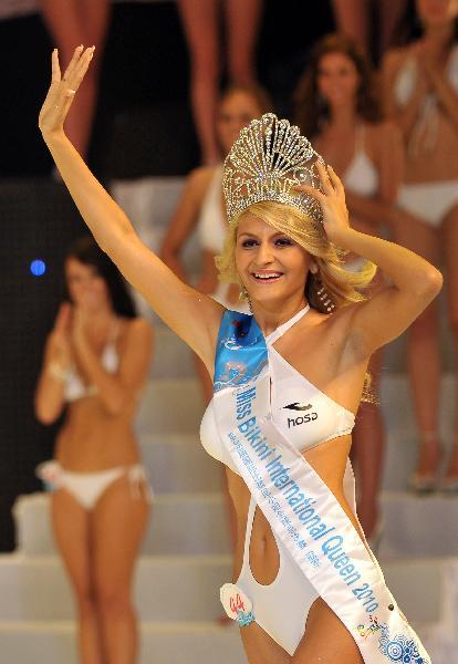 Miss Romania Diana Irina Boanca crowned Miss Bikini World in Sanya