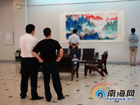 Painting and calligraphy works exhibition being held in Sanya